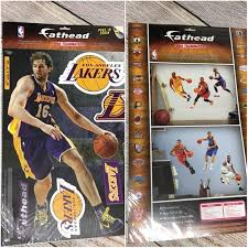 Fathead Accessories New La Lakers Gasol Wall Decal Sticker Poshmark