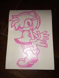 Amy Sonic The Hedgehog Car Window Decal Sticker Ebay