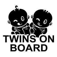 Twins On Board Car Styling Decal Cool Car Sticker Wish