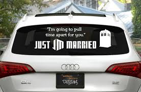 Geeky Just Married Car Decals
