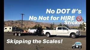 Driving Past The Scales Without D O T Numbers And No Not For Hire Sign Youtube