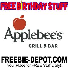 free birthday stuff applebee s grill