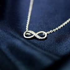 infinite necklace silver necklace