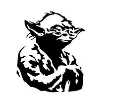Yoda Vinyl Decal Star Wars Collections Sticker Star Wars Art Drawings Star Wars Silhouette Star Wars Art Painting