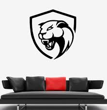 Wall Decal Animal Jaguar Panther Head Symbol Logo Vinyl Sticker Ed143 Wallstickers4you