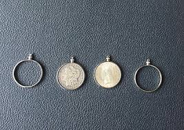 silver dollar coin spinner pendant