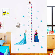 Disney Frozen Elsa Anna Princess Wall Stickers Home Decoration Girls Wall Decals Mural Art Growth Chart For Kids Height Measure Wall Stickers Aliexpress