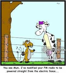 Electric Fence Cartoons And Comics Funny Pictures From Cartoonstock