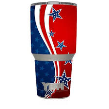 Skin Decal For Yeti 30 Oz Tumbler Cup 6 Piece Kit America Independence Stars Stripes Itsaskin Com