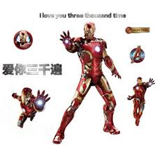Iron Man Anime Wall Decals The Avengers Super Hero 3d Vinyl Stickers Kids Room Decoration Diy Marvel Poster Wallpaper 90 60cm Wall Stickers Aliexpress