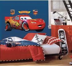 Amazon Com Roommates Disney Pixar Cars Lightening Mcqueen Peel And Stick Giant Wall Decal Home Improvement