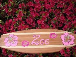 2ft wood surf surfboard beach pool wall