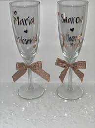Personalised Role Wedding Hen Do Party Vinyl Decal Champagne Wine Glass Sticker Ebay