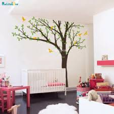 Custom Three Colors Large Size Tree Vinyl Decals Nursery Home Decor Diy Self Adhesive Natural Murals Art Cute Poster Yt3608 Buy At The Price Of 29 40 In Aliexpress Com Imall Com