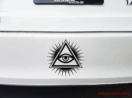 Illuminati All Seeing Eye Of God Eye Of Providence Vinyl Decal Sticker Decor Decals Stickers Vinyl Art Home Garden