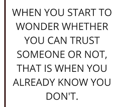 top quotes on trust and trust issues