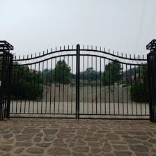 China Cheap Modern House Wrought Iron Main Gates Designs Simple Gate Design China Door And Steel Door Price