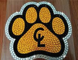 Premium Clear Lake Paw Print Rhinestone Glitter Car Decal Dmc Fundraising