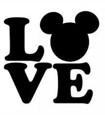 Disney Love Die Cut Vinyl Decal Oracal Logo Car Window Sticker Phone Mickey Ebay