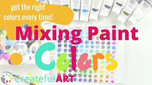 how to mix paint colors and get the