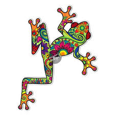 Tree Frog Car Decal Colorful Design Bumper Sticker Laptop Etsy In 2020 Marker Art Car Decal Hippie Frog Art