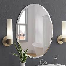 beveled polished frameless wall mirror