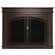 large glass fireplace doors fl 5802