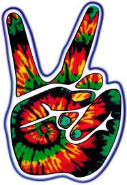 Tie Dye Peace Hand Window Sticker Decal Peace Resource Project