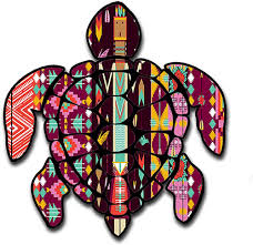 Amazon Com Sea Turtle Aztec Pattern Hawaii Turtle Sticker Decal For Car Made In The U S A Clothing