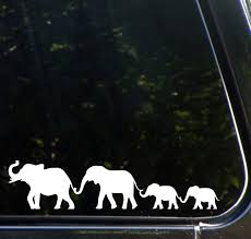 Amazon Com Elephant Family Walking D1 Car Vinyl Decal Sticker Yadda Yadda Design Co 8 5 W X 2 H Color Choices Available White Arts Crafts Sewing