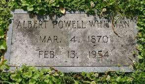 So Many Ancestors!: Tombstone Tuesday: Albert Powell Whitman