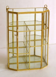 8 brass and glass small display cabinet