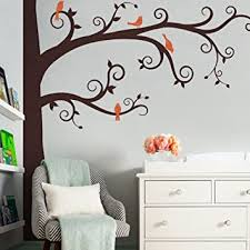 Amazon Com Corner Tree Wall Decal Scheme C By Simple Shapes Baby