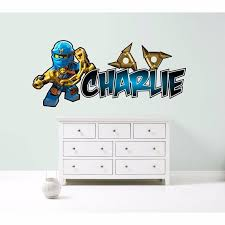 Lego Ninjago Jay Blue Personalised Wall Sticker Decal Etsy