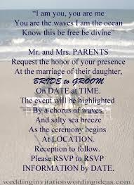 free beach wedding invitation wordings