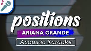 Ariana Grande - positions - Karaoke ...