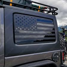 Amazon Com Skull Daddy Graphics Jku Hard Top Window Flags To Fit Jeep Wrangler 2007 2017 Jku Automotive