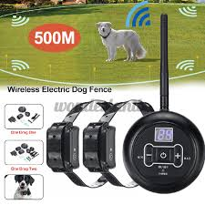 Remote Dog Training Lcd E Collar Trainer Waterproof Set Wireless Fence Shopee Thailand