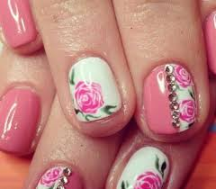 50 cute pink and white nails designs