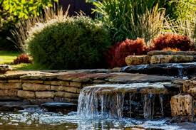 creating a pond waterfall water