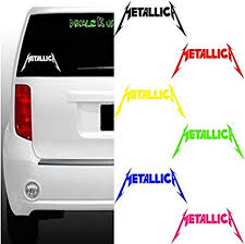 Amazon Com Metallica Decal Bumper Sticker Car Window Yeti Band Rock Metal Black 8x4 Kitchen Dining