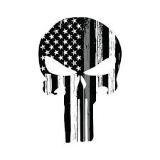 Thin Silver Line Punisher Skull Car Decal Correctional Officer Sticker Ebay