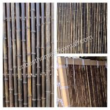 Besthome Luxurious Natural Black Bamboo Fence Panel A Facebook