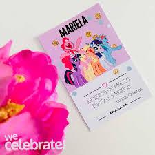 Invitaciones My Little Pony X12 We Celebrate