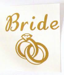 Bride W Rings Vinyl Decal Wedding Decal Vinyl Sticker Bride Decal Mug Decal Tumbler Decal Laptop Decal C Vinyl Decals Wedding Decal Vinyl Sticker