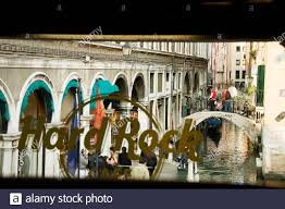 City Of Venice Italy Europe View From Inside Hard Rock Cafe Venice Window Decal Stock Photo Alamy