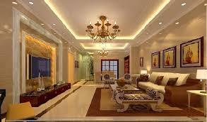 new gypsum ceiling for a living room