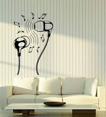 Vinyl Wall Decal Headphones Music Lover Notes Earphones Stickers 2856 Wallstickers4you