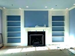 built in bookcase fireplace and