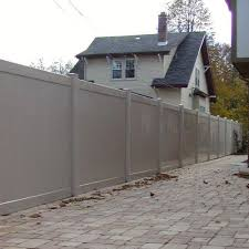 Weatherables Savannah 6 Ft H X 8 Ft W Tan Vinyl Privacy Fence Panel Kit Ptpr T G 6x8 The Home Depot Privacy Fence Panels Vinyl Privacy Fence Fence Panels